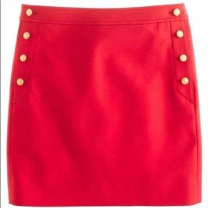 J.Crew Coral Postage Stamp Sailor Mini Skirt 2 W